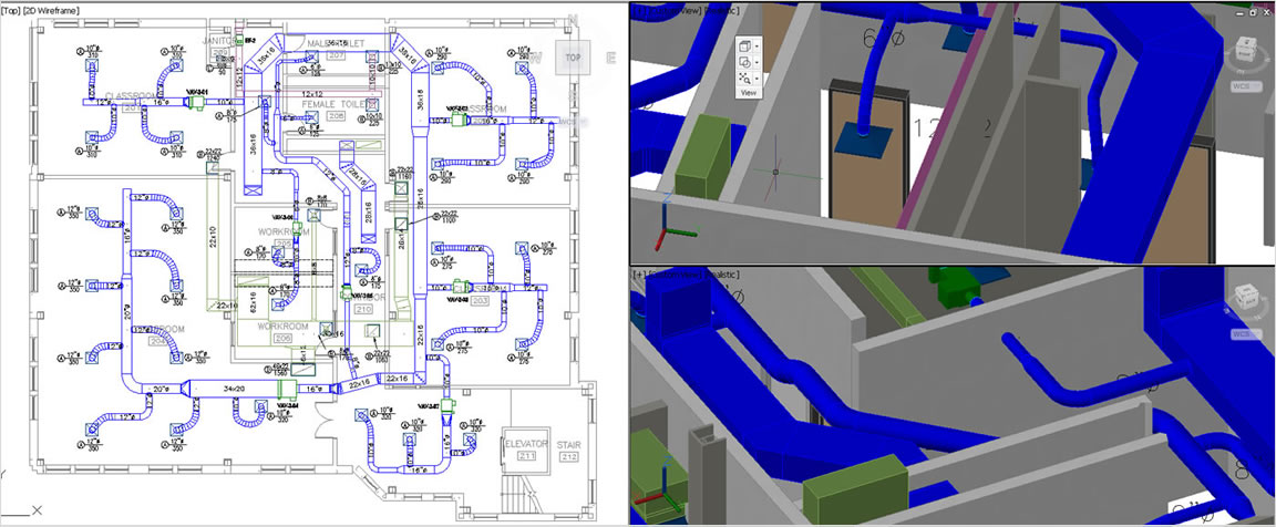 efficient cad drafting for hvac piping design. Black Bedroom Furniture Sets. Home Design Ideas